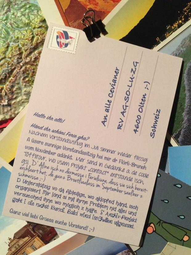 Föteli Vorstand postkarte