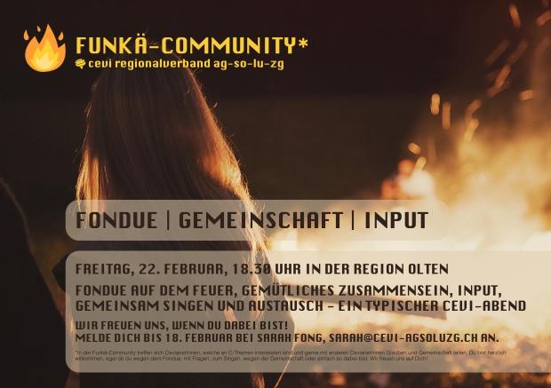 flyer fondue funkä-community